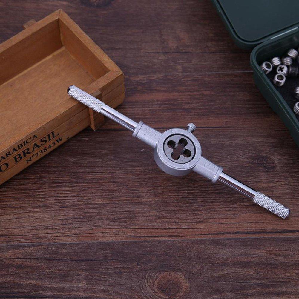 Nrpfell 6pzs//juego Kit de llave de troquel metrica Herramienta de mano roscado enhebrado tratamiento de rosca