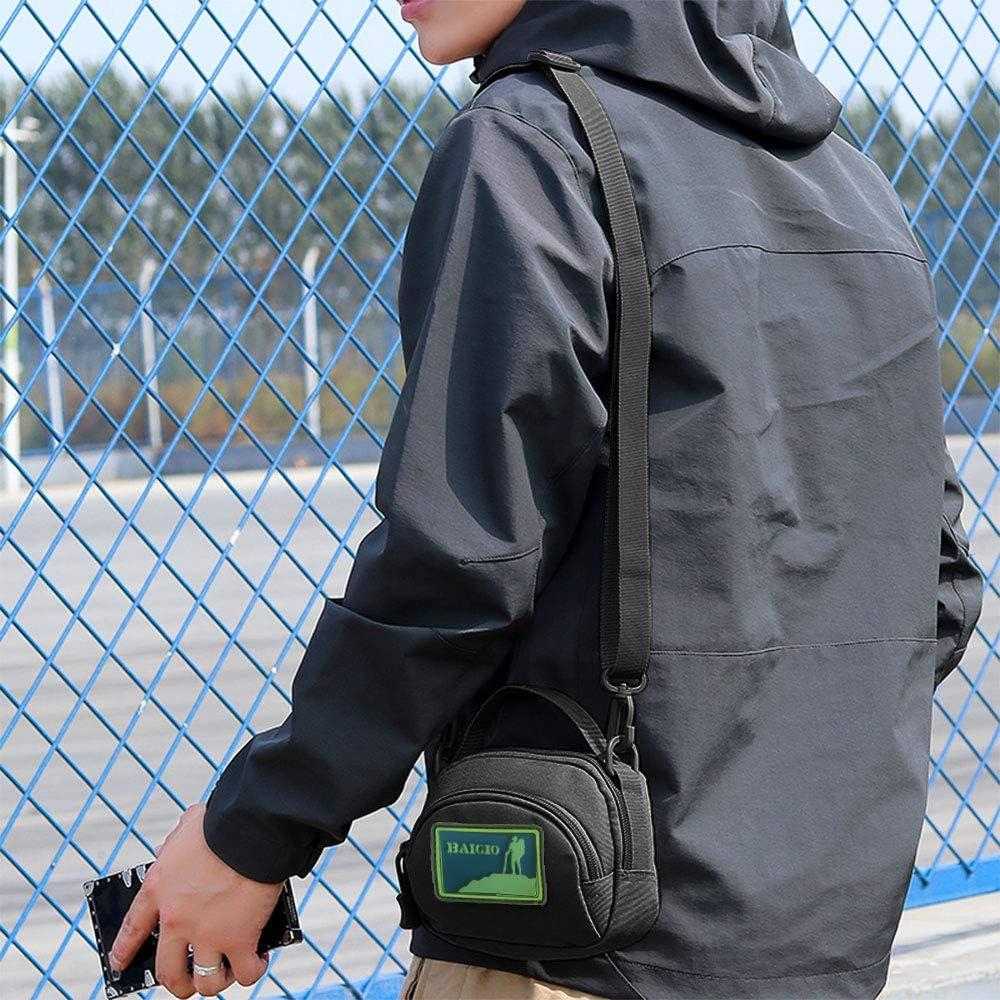 BAIGIO Borsa Monospalla Tattico Militare Borsa a Tracolla Uomo Sportivo Borsetta a Monospalla Militare per Campeggio Escursionismo Ciclismo Viaggio Trekking
