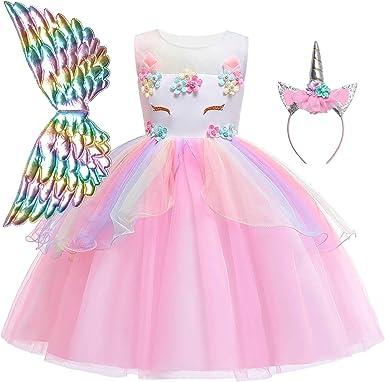 Qpancy Disfraz De Unicornio Para Niñas Clothing