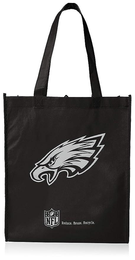 reputable site de897 172c3 Forever Collectibles NFL Philadelphia Eagles Printed Non-Woven  Polypropylene Reusable Grocery Tote Bag