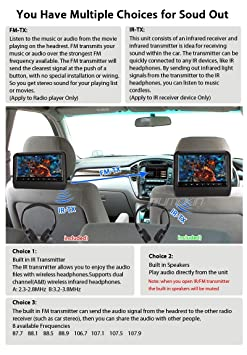 Banos Tft.2 Pcs 9 Black Digital Tft Led Screen Easy To Install And High Resolution Color Display Adjustable Automobile Car Vehicle Headrest Dvd Player
