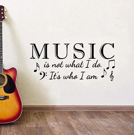 La etiqueta de vinilo etiqueta de la pared La música es ...