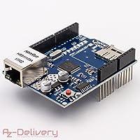 AZDelivery ⭐⭐⭐⭐⭐ Ethernet Shield W5100 mit MicroSD-Karten Slot für Arduino
