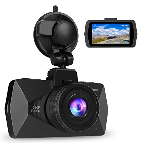 Crosstour 1080P Full HD Dash Cam In Car Dashboard Camera DVR with F1.8 Super Big Aperture Night Vision SONY Sensor 170° Wide Angle HDR Motion Detection and G-sensor