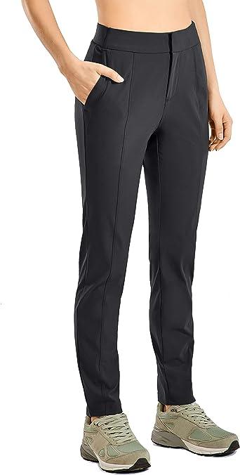 CRZ YOGA Pantaloni da Trekking con Cerniera per Donna Pantaloni Casual Vita Elastica