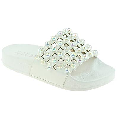 c82a983e5 Lelli Kelly Kids LK5910 Slide Sandals in White  Amazon.co.uk  Shoes ...