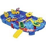 AquaPlay 8700001516 - Wasserbahn Set Schleusenbox, 25-teilig