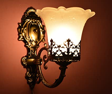 Buy Prop It Up Antique Design Brass Portuguese Style Wall Lamp ...