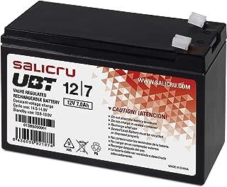Salicru 013BS000001 - Baterías para sistemas ups, 7 Ah, 12 V, Color Negro