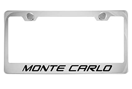 Chevrolet Monte Carlo Mirrored Chrome Stainless Steel License Plate Frame
