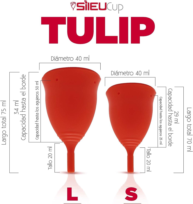 Copa Menstrual Sileu Cup Tulip - Alternativa ecológica y natural a tampones y compresas - Las mejores opiniones de nuestros clientes, recomendada por ...
