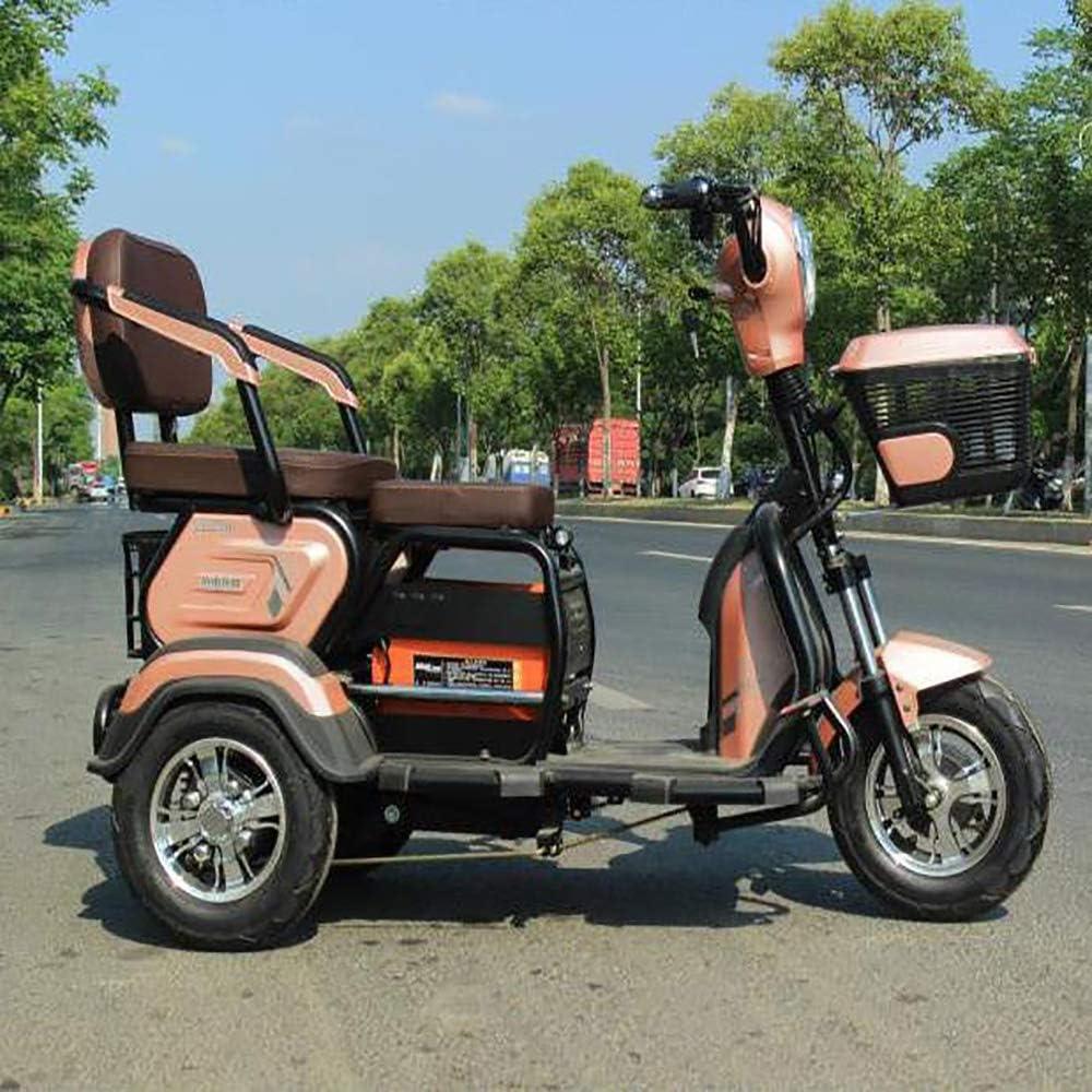 MMRLY Triciclo para Adultos, Triciclo eléctrico de Tres Ruedas Scooter para los Ancianos y discapacitados - 60V 20A / más Alta Velocidad de 40 km/h / 200 kg