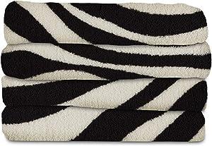 Sunbeam Heated Throw Blanket | Microplush, 3 Heat Settings, Zebra - TSM8TP-R901-25B00