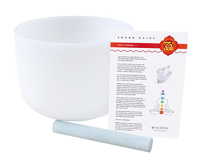 Amazon.com: Root Chakra Crystal Singing Bowl C Note Suede ...