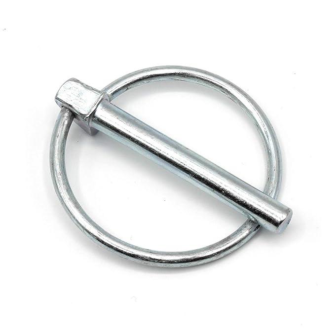 Klappsplinte 9mm x 45mm HEAVYTOOL/® galvanisch verzinkt Klappstecker Splinte Klappbolzen 100 St/ück
