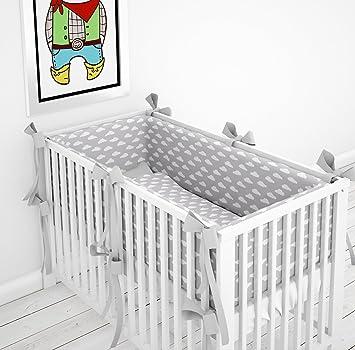 190cm Safari gr/ün 60x120cm 190 cm 360 cm 420cm f/ür Bett 70x140 cm Nestchen Bettumrandung Kopfschutz F/ür Baby Kind