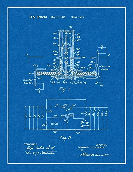 "Low Impedance Switch Patent Print Art Poster Blueprint with Border (20"" ..."