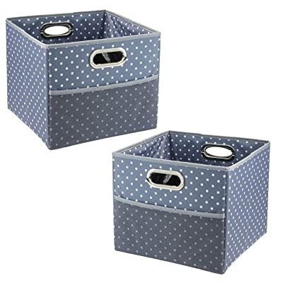 High Road CargoCube Trunk and Car Organizer Bins with Leakproof Lining - Set of 2 (Polka Dot): Automotive