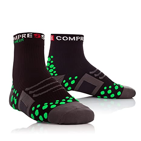Compressport Calcetines Bike Negro/Verde EU 34-36 (T1)