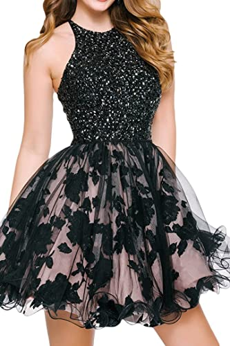 Tdress Girl's Scoop A Line Beaded Homecoming Dresses