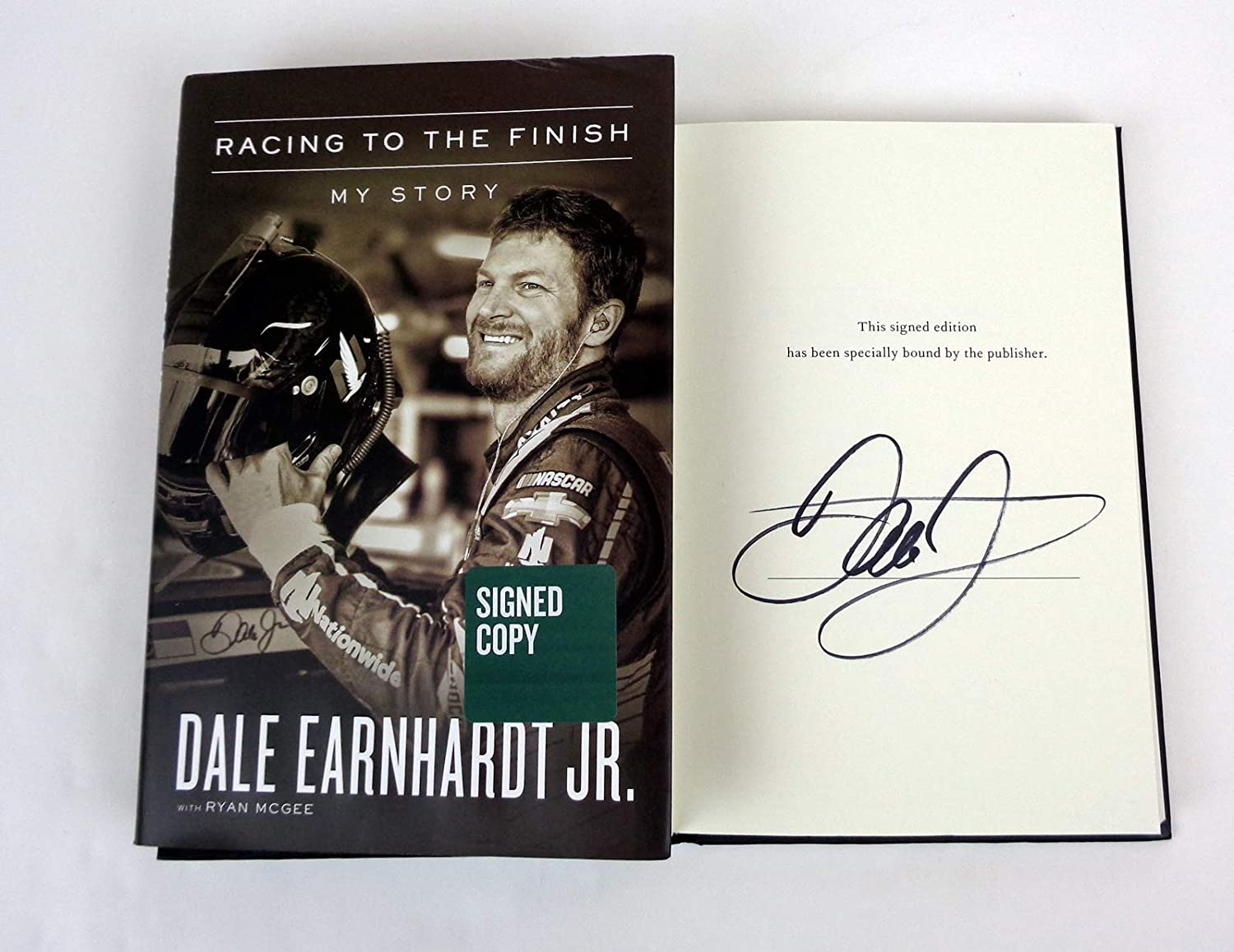 Dale Earnhardt Jr Signed Autograph Racing To The Finish My Story 1st Edition Book COA