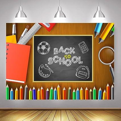 amazon com mehofoto back to school backdrop blackboard pencil book