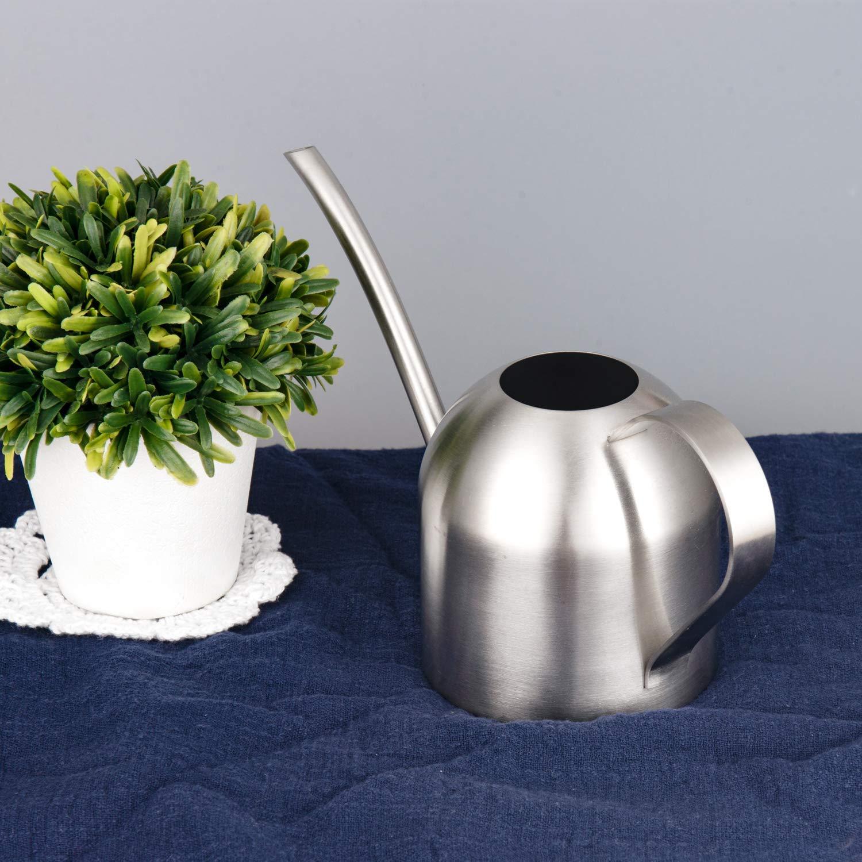 14oz//400ml IMEEA/® Geb/ürsteter Edelstahl Gie/ßkanne Moderner Stil Kleine Gr/ö/ße F/ür Pflanzen Auf Dem Tisch Im B/üro