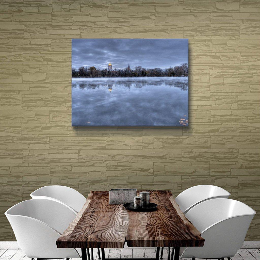 14 by 18-Inch Art Wall dwilson-025-14x18-w ArtWall The Basilica-Notre Dame Gallery Wrapped Canvas Art by Dan Wilson