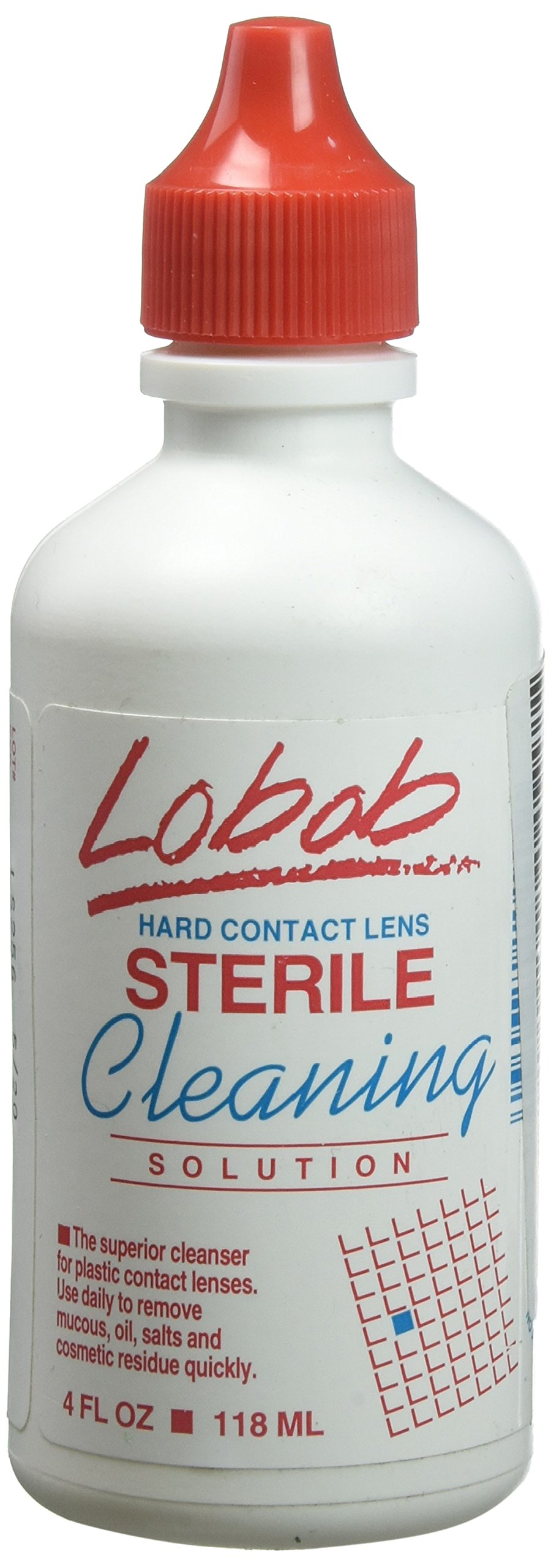 Lobob - Sterile Cleaning Solution for Hard Lenses, Non-Abrasive 4 Fl Oz