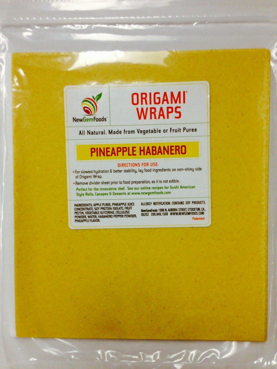 Pineapple Habanero Origami Sushi Wraps