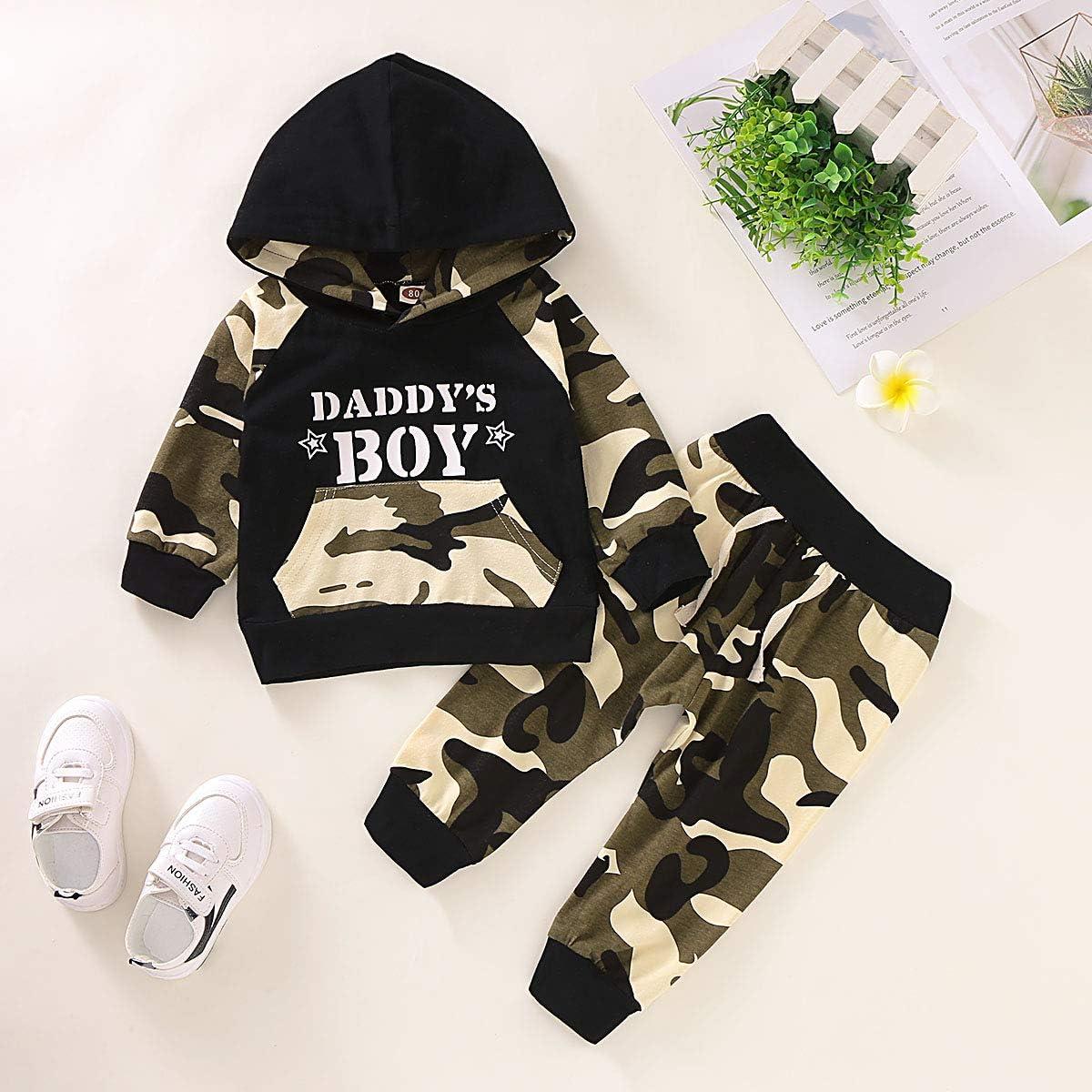 Pants Kleinkind Hoodie Outfit Set Neugeborenen Papas Boy Camouflage Kleidung Set Infant Hoodies Top