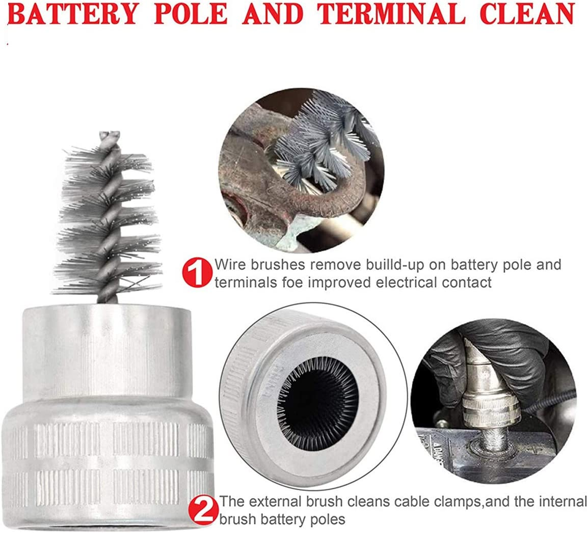 Zhiting 8pcs Batterieklemmen Kit Korrosionsschutzscheiben Reinigungsbürste Steckverbinder Zubehör Battery Protector Für Auto Boot Auto