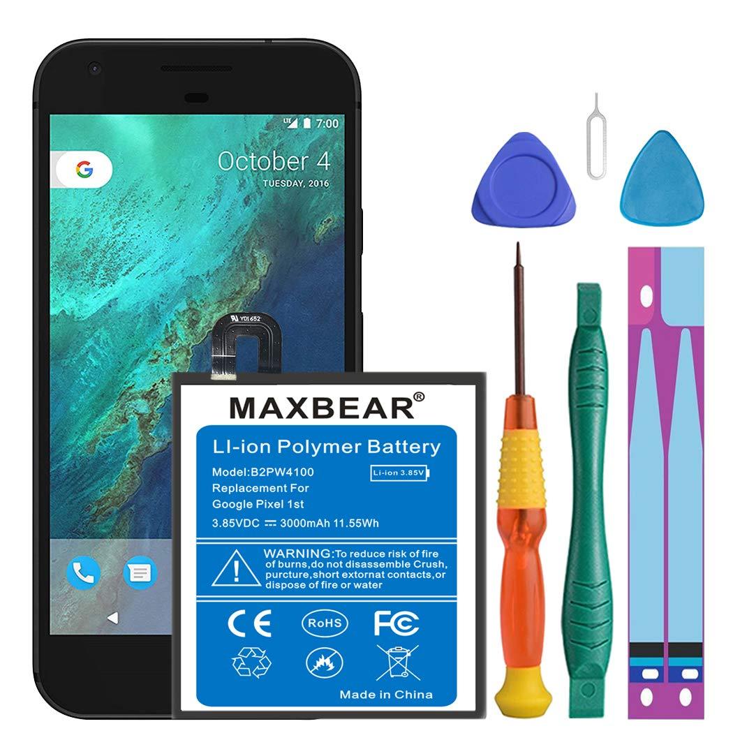 Bateria Celular Google Pixel Maxbear 3000mah Li Polymer B2pw4100 Para Htc Google Pixel 5 35h00261 00m G 2pw410 Nexus S1