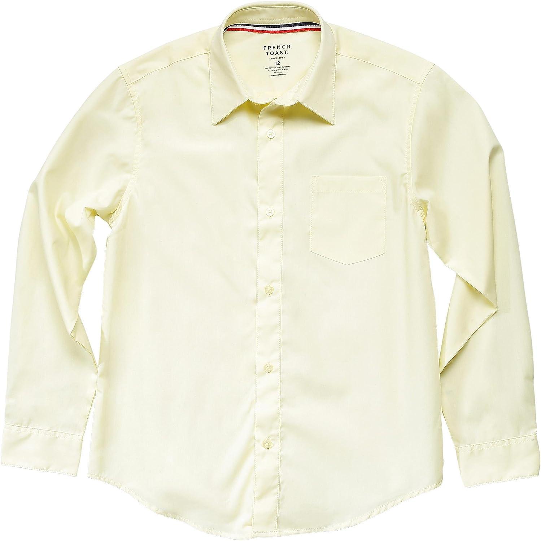 French Toast School Uniform Boys Long Sleeve Classic Dress Shirt: Clothing