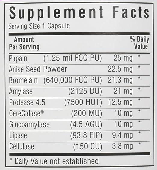 Vegetariana óptimo Enzimas, 180 Vcaps - Bluebonnet Nutrición ...