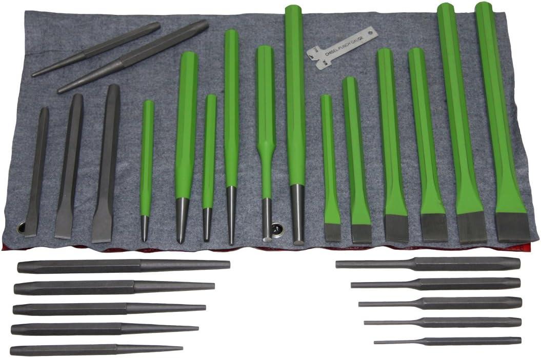 Cinceles 12pc Set Punzón Cónico Punch y Cincel Set PIN PUNCHES