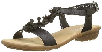 angenehmes Gefühl Schuhwerk Markenqualität Rieker Damen V3446 Geschlossene Sandalen