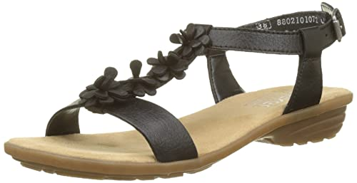 Womens V3446 Closed Toe Sandals, Black (Black) Rieker