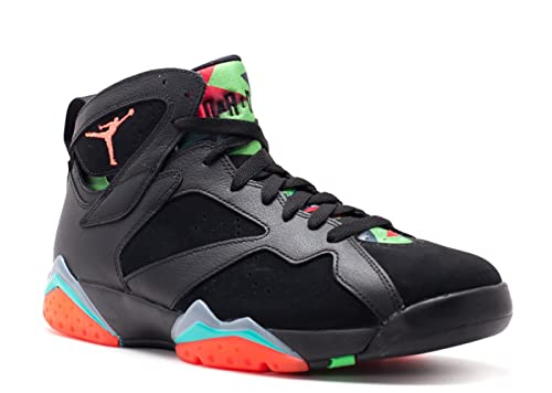 a245ca8bd16736 Nike Men s Air Jordan 7 Retro 30th Marvin Martian Black Infrared 23-Blue  Graphite Suede Basketball Shoes