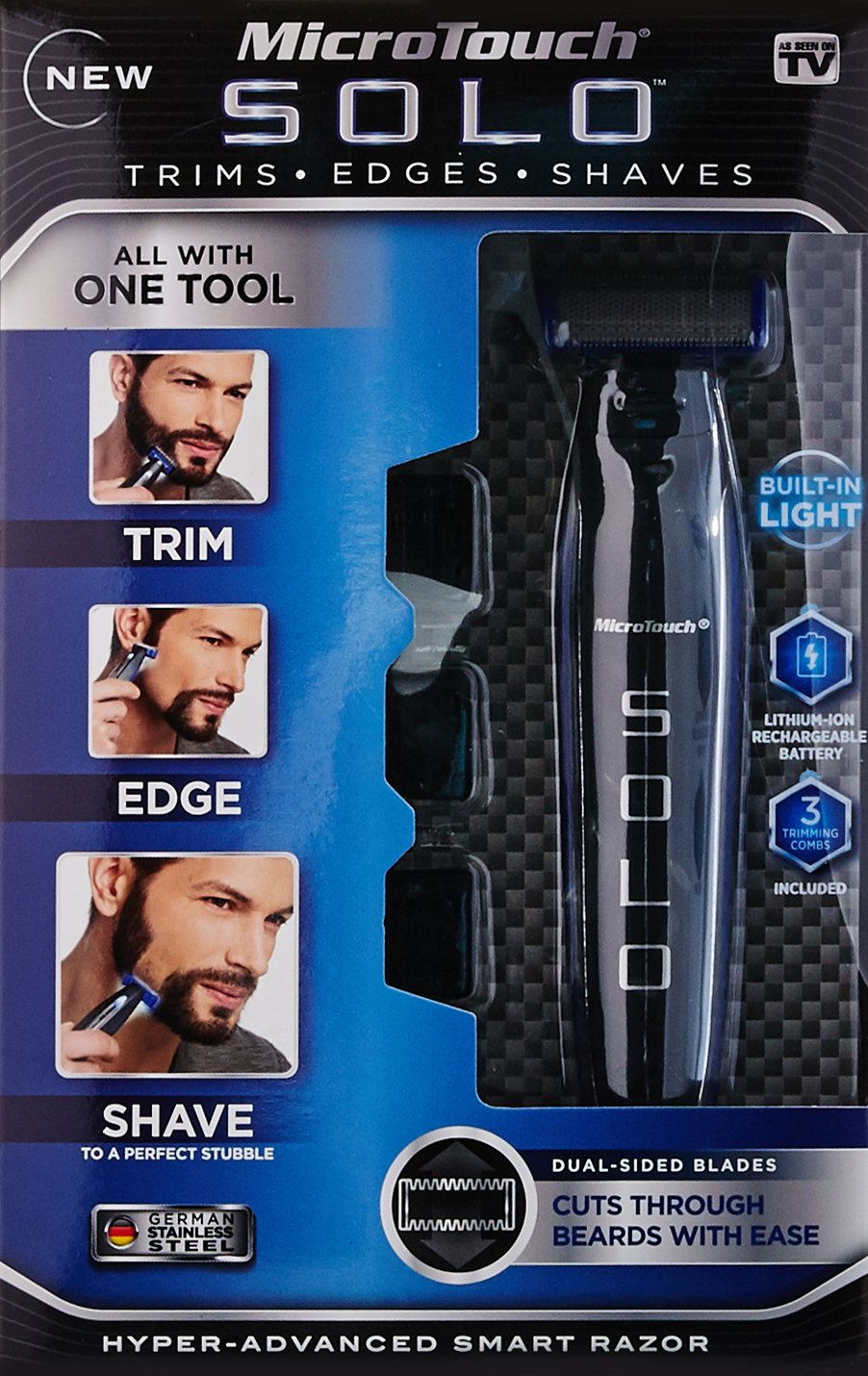 Micro Touch SOLO Rechargeable Shaver, Trimmer and Edger by Micro Touch (Image #3)