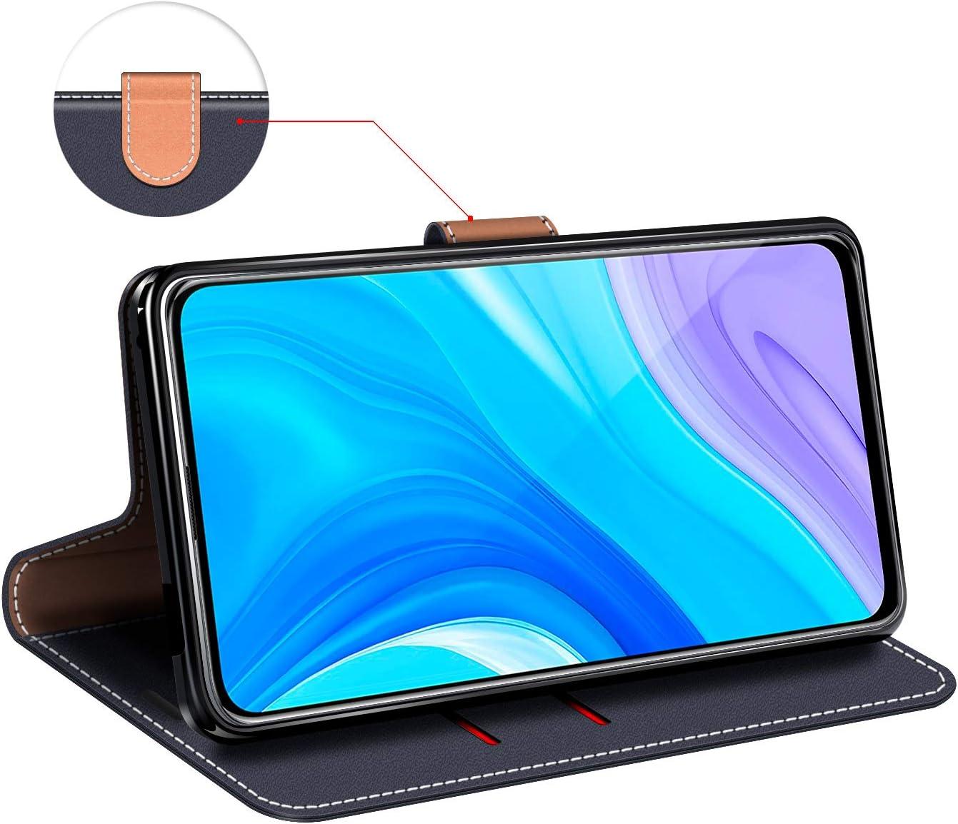 Funda Libro Huawei P Smart Pro Carcasa Magn/ético Funda para Huawei P Smart Pro COODIO Funda Huawei P Smart Pro con Tapa Funda Movil Huawei P Smart Pro Negro