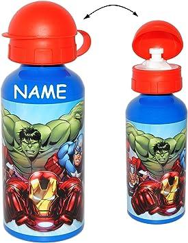 f/ür Kinder Aluflasche 0,45 Liter // 450 ml The Avengers auslaufsicher incl Name aus Aluminium 450 ml Fahrradflasche .. alles-meine.de GmbH Sportflasche // Aluflasche