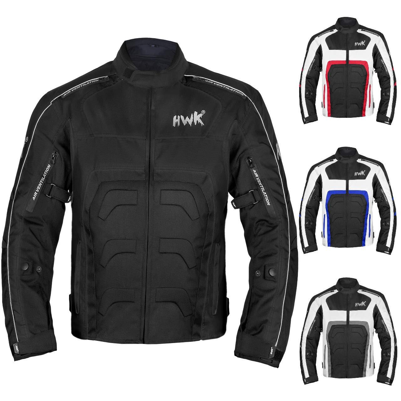 Small, Black HWK Mesh Motorcycle Jacket Riding Air Motorbike Jacket Biker CE Armored Breathable