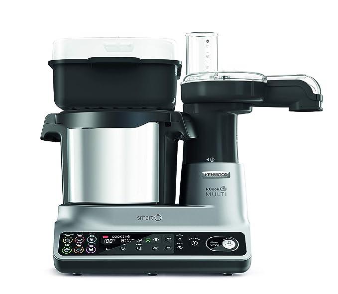 Kenwood Kcook Multi Smart Ccl450si Robot De Cocina Controlable Con Wifi Y App Con 600 Recetas Gratuitas Báscula Conectada 1500 W Capacidad 45l
