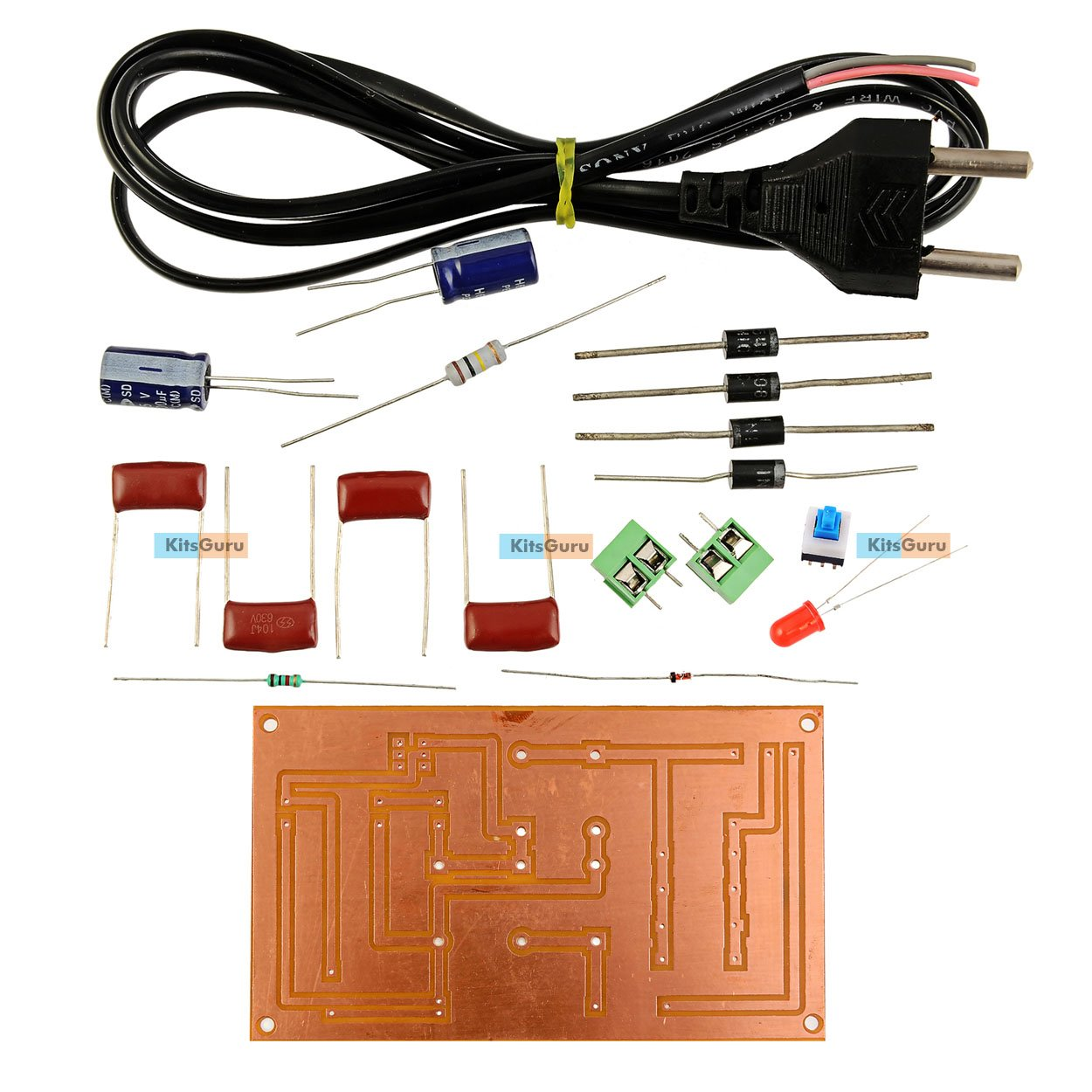 Diy Kit Transformerless Power Supply Lgkt113 Digital Circuits Circuit Homemade Projects