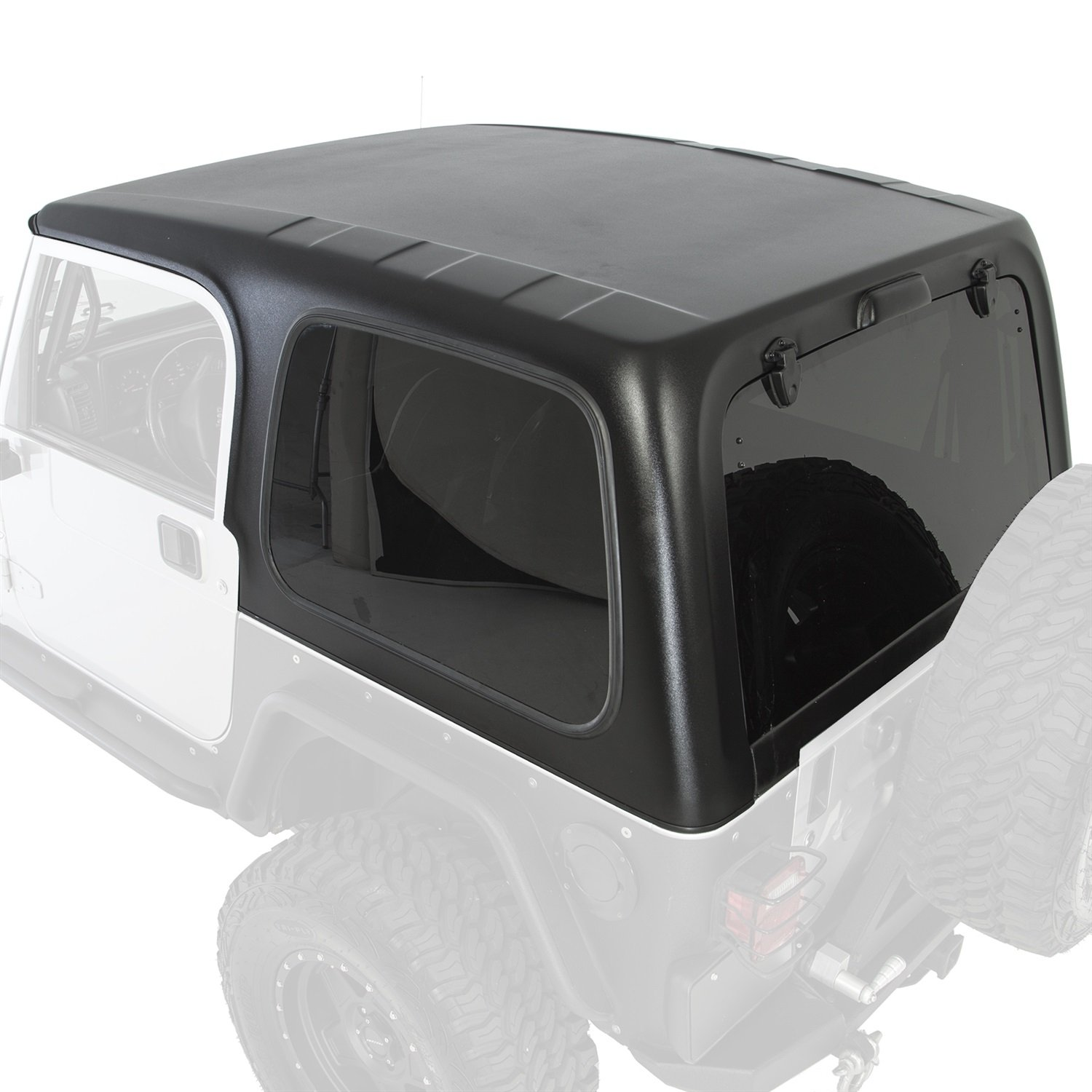 Smittybilt 519701 Textured Black Hard Top 1 Piece with Tinted Windows
