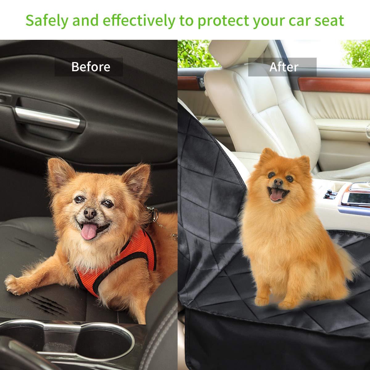morpilot 2 in1 Hund Autositzbezug, Wasserdicht Hundedecke verstellbar Vorne Autositzabdeckung, Pet Reise Hängematte mit Nonslip Gummi Vordersitz Schutz für alle Arten von Fahrzeugen Autos