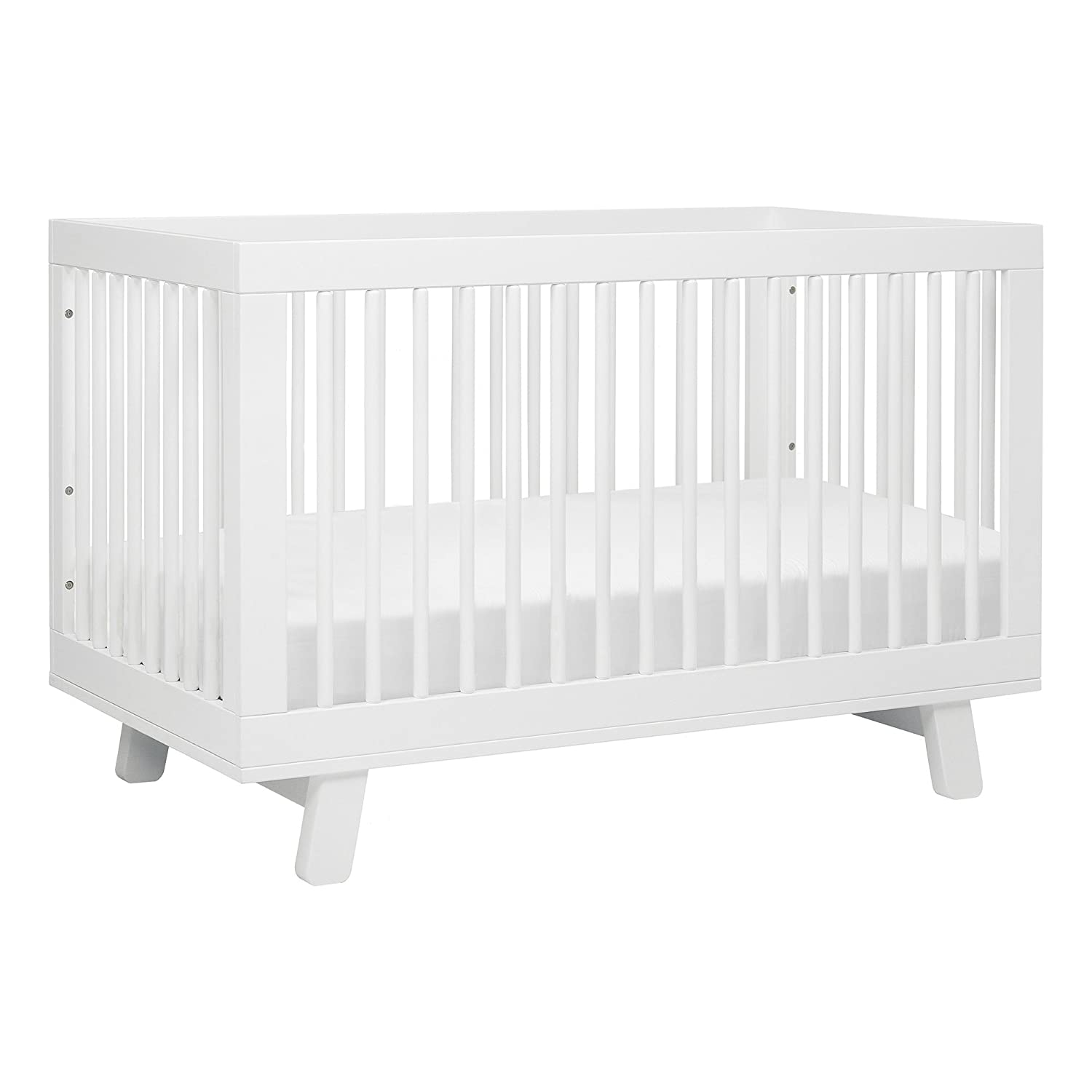 amazoncom babyletto hudson 3 in 1 convertible crib with toddler rail white baby babyletto furniture