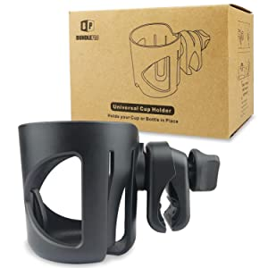 Stroller Cup Holder, Universal Drink Holder for Bikes, Trolleys or Walkers, Fits Most Cups
