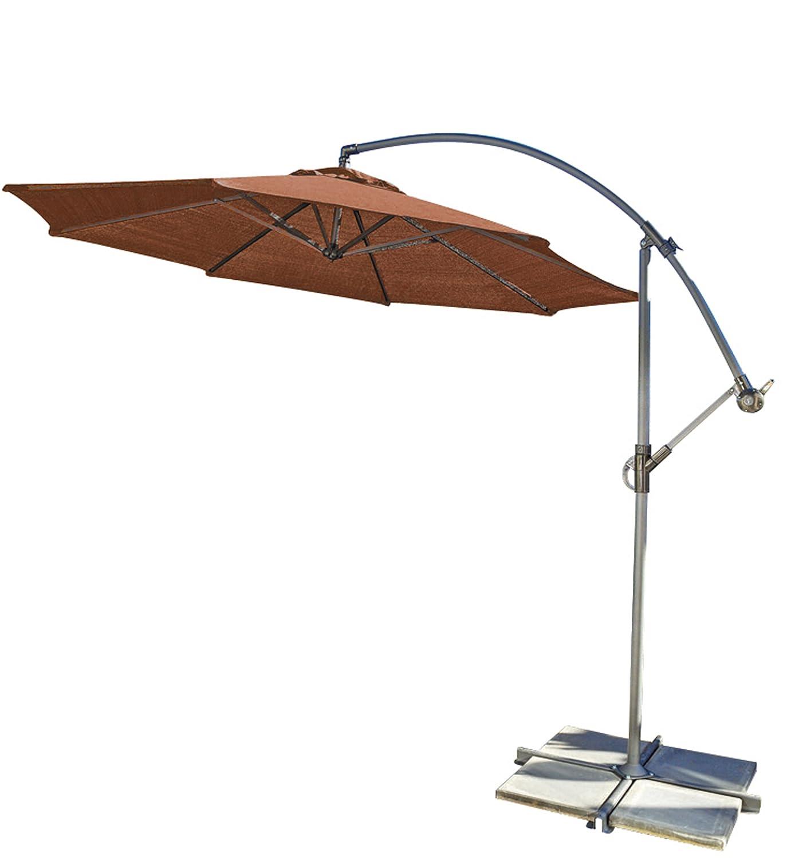 Amazon.com : Coolaroo Round Cantilever Umbrella, Terracotta, 10 Foot : Patio  Umbrellas : Garden U0026 Outdoor